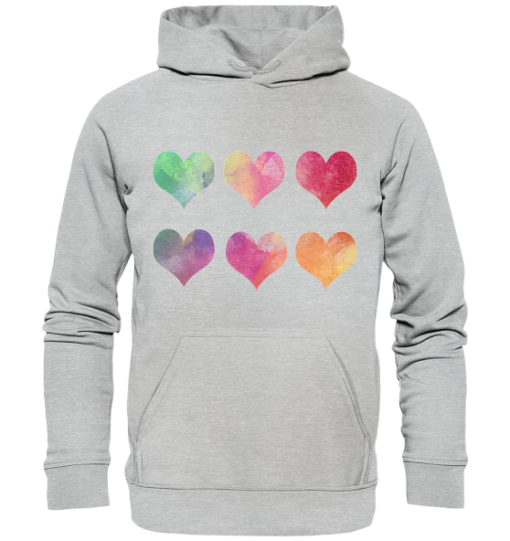 Herzen Unisex Hoodie heather grey (meliert)